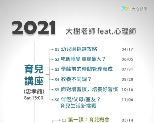 2021 育兒系列講座&家長團體課程